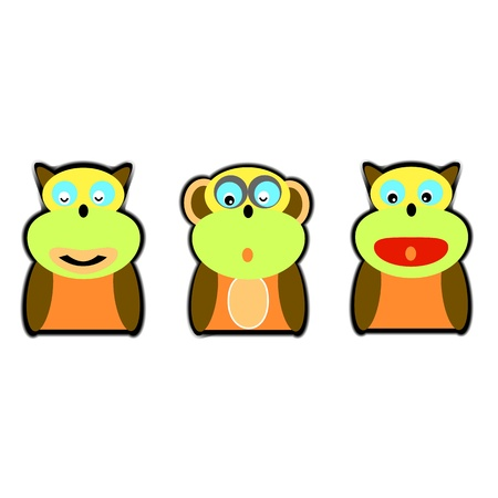 cartoon monkey thought for design Vector