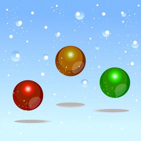 color bubbles design element for christmas Stock Vector - 16667954