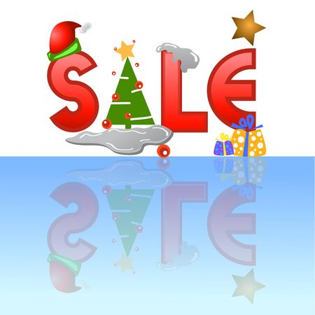 sale tag for christmas design illustration Stock Vector - 16667952