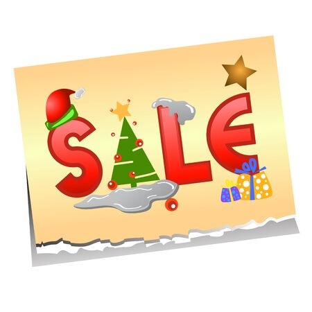 sale tag for christmas design illustration Stock Vector - 16667947