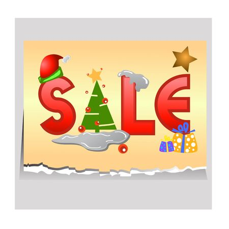 sale tag for christmas design illustration Stock Vector - 16667946