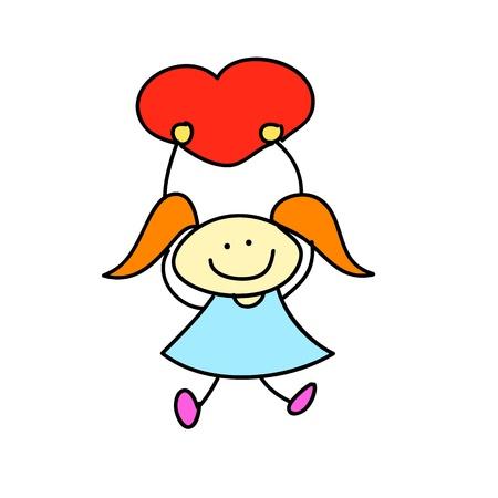 happy kids cartoon hand-drawn illustraton Stock Vector - 16877868
