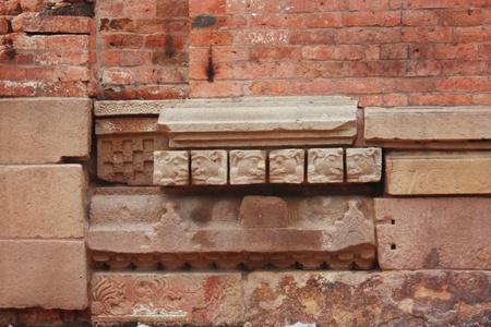 sarnath: Lion stone carving at Sarnath India for Buddhism