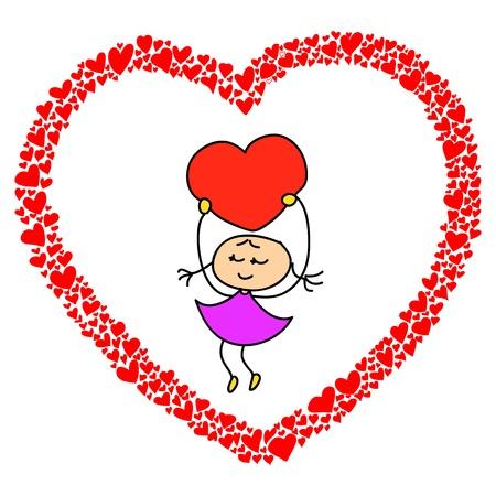 hand-drawn heart sketch design for valentine Stock Vector - 17451086