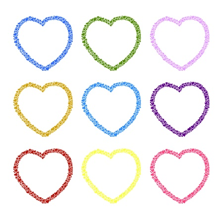 hand-drawn heart sketch design for valentine Stock Vector - 17451102