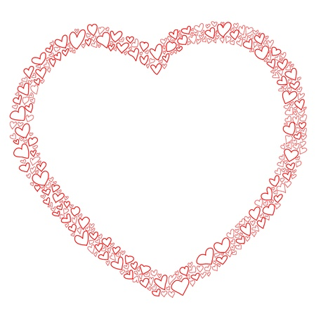 hand-drawn heart sketch design for valentine Stock Vector - 17451080