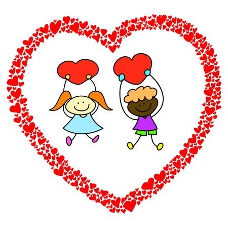 mal: hand-drawn heart sketch design for valentine