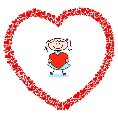 hand-drawn heart sketch design for valentine Stock Vector - 17451085