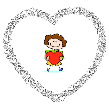 hand-drawn heart sketch design for valentine Stock Vector - 17501349