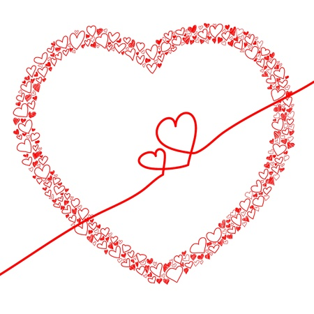 hand-drawn heart within hearts design for valentine Stock Vector - 17492493