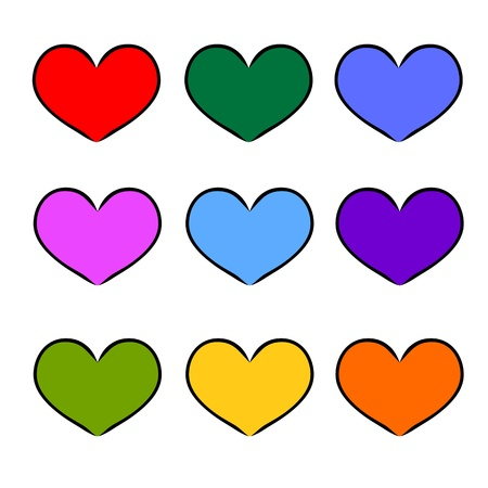 colorful heart shape for love hand-drawn symbol design. freehand sketch on iPad Stock Vector - 17501361
