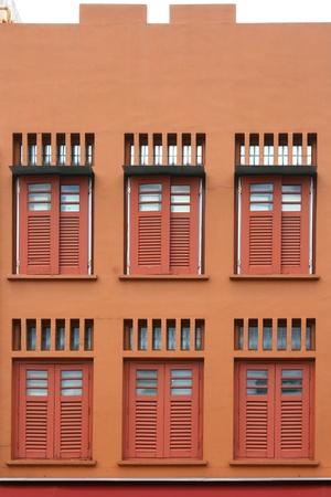 gimmick: retro buidlding facade for design Stock Photo