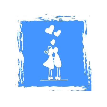 hand-drawn character love couple illustration Stock Vector - 17875835