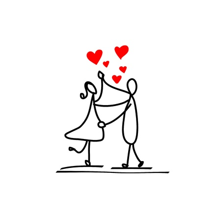 cartoon hand-drawn love character Stock Vector - 17875817