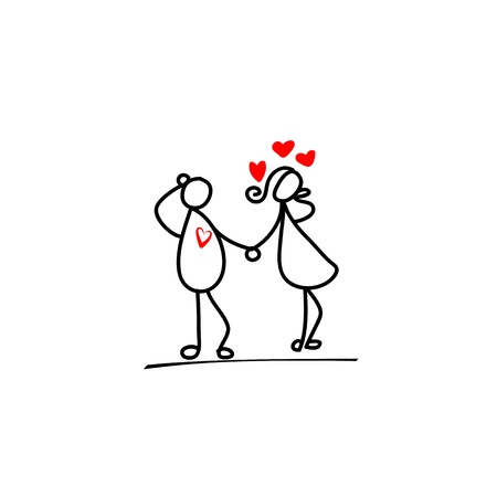 out of engagement: cartoon hand-drawn love character