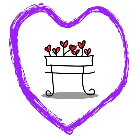 cartoon hand-drawn love character Stock Vector - 17875840