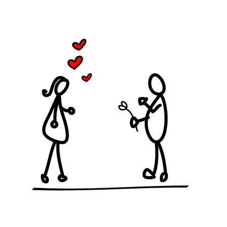 cartoon hand-drawn love character Stock Vector - 17875825