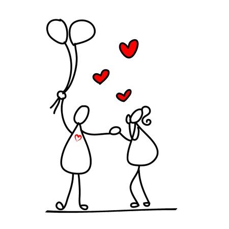 finale: cartoon hand-drawn love character