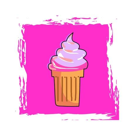 ice cream cone hand drawing vector illustration Stock Vector - 17875877