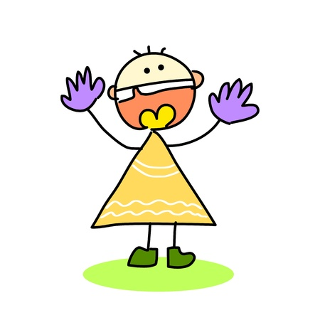 cartoon hand drawing emotion expression Stock Vector - 17875909