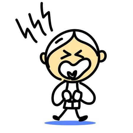 paz mundial: mano emociones dibujo de la historieta Vectores