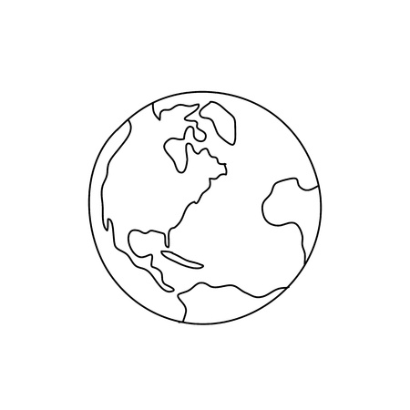 groin: hand drawing freehand sketch globe for design Illustration