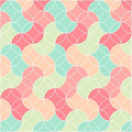抽象的なレトロなシームレスなグラフィック パターン