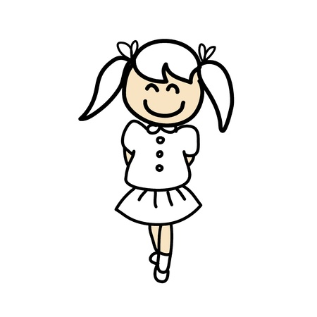 hand drawing cartoon character kids Stock Vector - 18923024