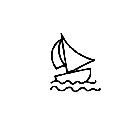 cartoon hand drawing imagination and creativity boat Vector