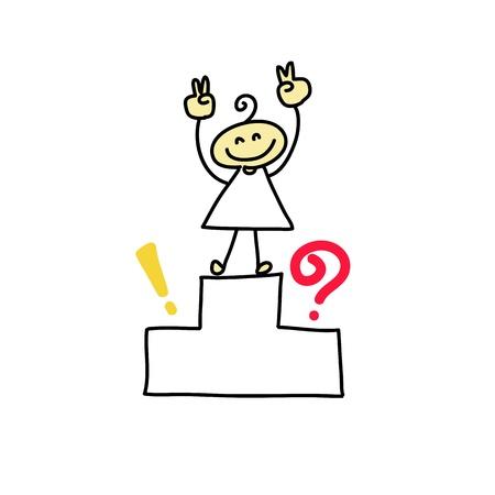 hand drawing cartoon characters creativity for presentation Stock Vector - 19140559