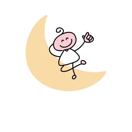 hand drawing cartoon characters creativity for presentation Stock Vector - 19140582