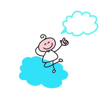 hand drawing cartoon characters creativity for presentation