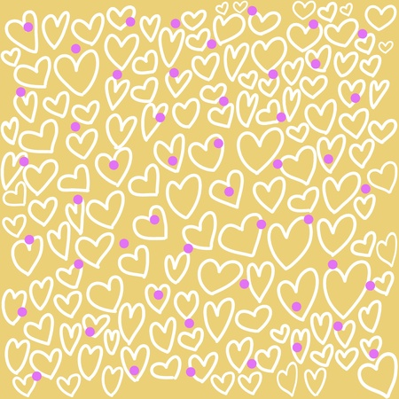 abstract seamless pattern with hand drawing doodle hearts background Vector