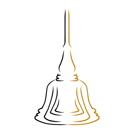 hand drawing design element buddha stupa Vector