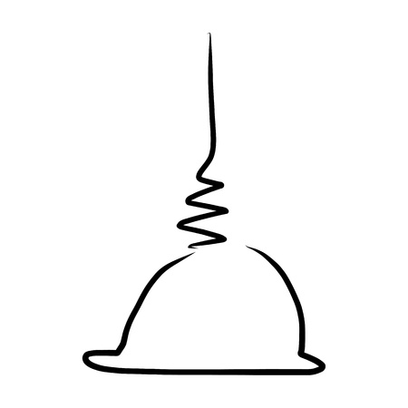 stupa: hand drawing design element buddha stupa Illustration