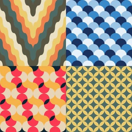abstract retro geometrische naadloze patroon voor design