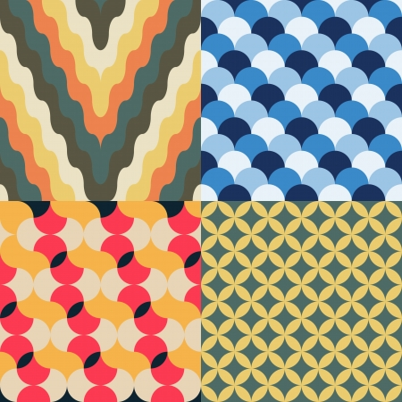 abstract retro geometric seamless pattern for design