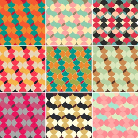 bohemian: abstract retro geometric seamless pattern for design