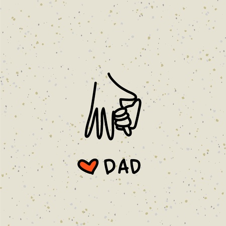 hand drawing cartoon character happy family Vector