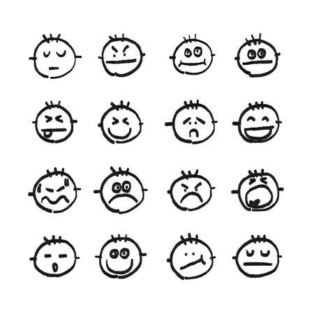 hand drawing vector emotion icon Vector