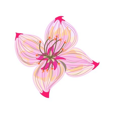 Hand drawing pink flower for design royalty free cliparts vectors hand drawing abstract pink flower vector mightylinksfo Images
