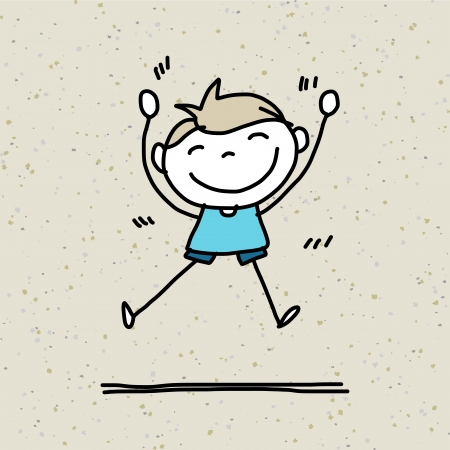 Dessin à la main cartoon enfants heureux de jouer Banque d'images - 21281396
