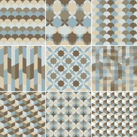 muster: Reihe von abstrakten geometrischen Muster Hintergrund für Design