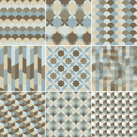set of abstract geometric pattern background for design Vector