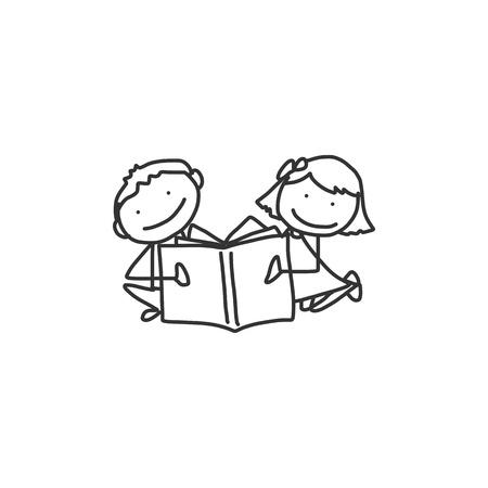 hand drawing cartoon back to school Çizim