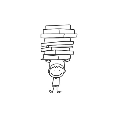 hand drawing cartoon back to school Фото со стока - 21502068