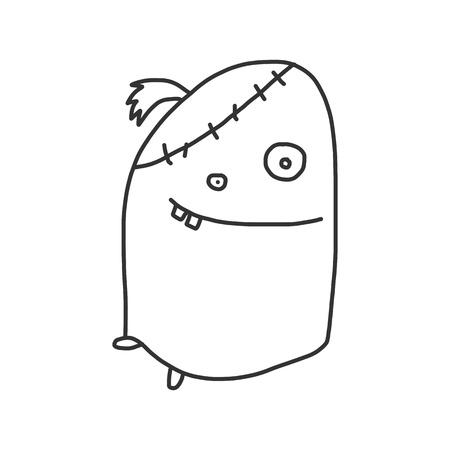vector sketch halloween cartoon character Stock Vector - 21502074