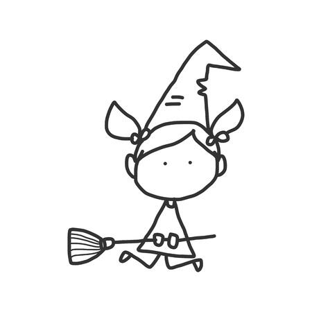 vector sketch halloween cartoon character Stock Vector - 21502075