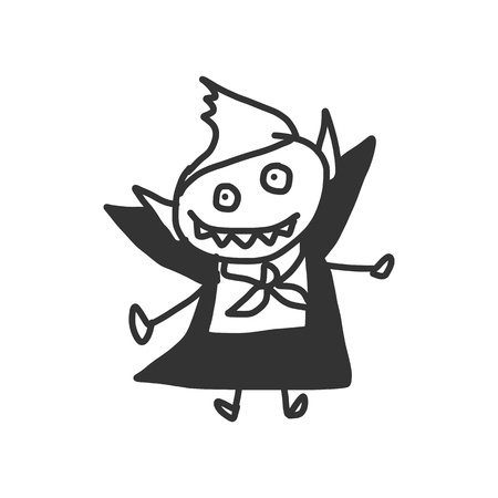 vector sketch halloween cartoon character Vector