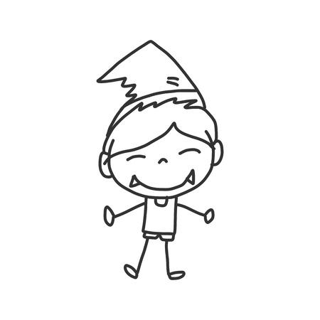 vector sketch halloween cartoon character Stock Vector - 21502089